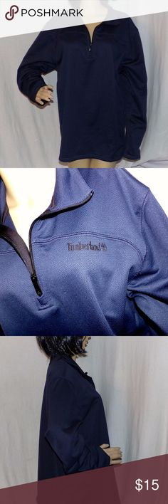 Timberland Heavy Pullover Shirt. Like a Dri-Fit Timberland Heavy Pullover Shirt. Like a Dri-Fit Heavy Polyester Sports shirt Size L LOW & Fast Shipping. Really nice shit looks brand new and unused and unworn. It was a very expensive shirt as Timberland items are. This was a top of the line item. Has a zipper top for easy on and off. Made of 100% Polyester. Remember to BUNDLE 2 or more of our items to unlock our discounts and SAVE even more.  Was totally checked out by our crack team of…