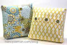 Boxed-Corner Buttonhole Pillow Tutorial/How-To by Nancy Zieman | Nancy Zieman Blog