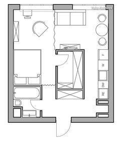 Bachelor, small apartment studio