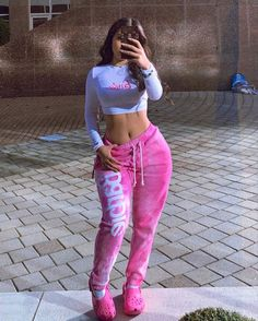 Cute Lazy Outfits, Chill Outfits, Baddie Outfits Casual, Swaggy Outfits, Swag Girl Outfits, Teen Fashion, Fashion Outfits, Vetement Fashion, Aesthetic Fashion