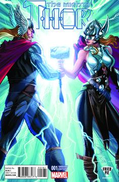Thor Uncertified Yes Marvel Modern Age Superhero Comics ,Signed Marvel Comic Books, Comic Books Art, Comic Art, Marvel Comics, Marvel Release Dates, Thor 1, Lady Thor, Female Thor, J Scott Campbell