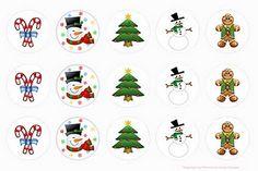 Free Christmas bottlecap images.