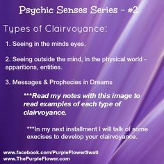 Types of Clairvoyance – Psychic Development Series #2