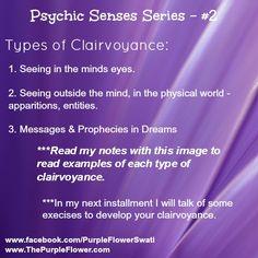 Types of Clairvoyance – Psychic Development Series #2