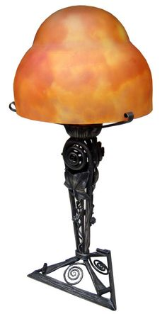 Daum French Art Deco Table Lamp France 1920's