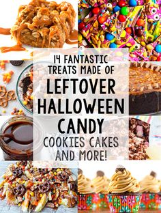 Do you have leftover Halloween candy and chocolates? Turn them into sweet and tasty desserts and treats with these 14 mouth-watering recipes!