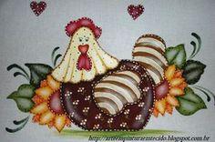 pintura em tecido galinha