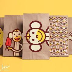 Screenprinted Lunch Bags