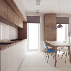 Energizing and Feminine: 5 Chic Studio Apartments with Artsy Accents Kitchen Room Design, Home Room Design, Kitchen Cabinet Design, Modern Kitchen Design, Home Decor Kitchen, Interior Design Kitchen, Apartment Kitchen, Apartment Interior, Apartment Design