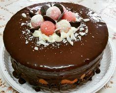 Naked Cake 4 leites e brigadeiro #cerejadebolo