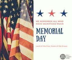 We remember and thank the service members and their families for their sacrifices in keeping our nation safe, and allowing us the opportunity to freely worship our God. God bless America!   #MemorialDay