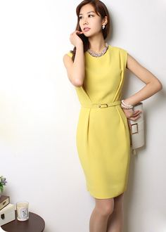 A lemon yellow work dress to brighten up your day, anyone?
