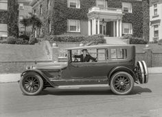 "San Francisco circa 1920. ""Locomobile touring sedan."" Sporting the so-called ""California top."" Christopher Helin"