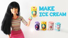 How to Make a Doll Ice Cream Tub Container   - Easy Doll Crafts - Simple...