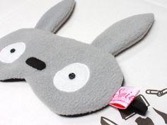 Kawaii Sleeping Eye Mask 'My Neighbor by SwiedebieCreative Totoro, Kawaii, Rainbow Dash, Sleep Mask, Disney Trips, Felt Crafts, Hand Embroidery, Baby Gifts, Sewing Projects