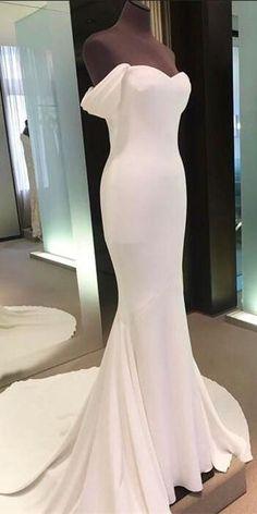 Off The Shoulder Long Mermaid Prom Dresses #weddingdresses #white #promdresses #promdress #promgowns #promdressesforteens #elegant #formal #cheap #simple #mermaidpromdresses #longpromdresses #offtheshoulderpromdresses #eveingdresses #graduationdresses #weddingpartydresses #pretty #beautifulpromdresses
