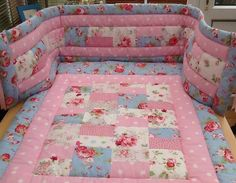 Bright baby girl Cath Kidston cot bedding Baby Patchwork Quilt, Cot Quilt, Patchwork Quilt Patterns, Baby Girl Quilts, Cot Bedding, Girls Quilts, Baby Bumper, Elephant Quilt, Signature Quilts