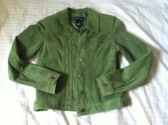Style Co Green Genuine Leather Jacket Petite S