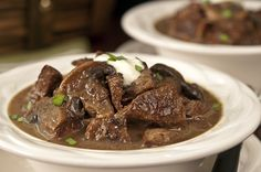 Steak and Mushroom Slow Cooker Soup!! Yummy