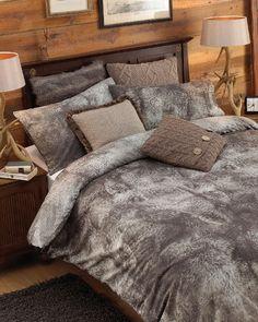 Riva Home Alaska Faux Wolf Fur Print Duvet Sheet Pillowcase Set (Twin) (Brown) Comforter Cover, Duvet Bedding, Duvet Cover Sets, Linen Bedding, Pottery Barn, Holly Willoughby Bedding, Ikea, Condo, Modern
