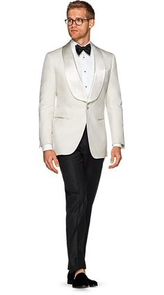 Ivory Groom Tuxedo Satin Suits for Men Wedding Prom Party Custom Made Costume Homme Groom Tuxedos Man Outfit Classic Terno Masculino Groom Tuxedo, Tuxedo For Men, White Tuxedo Jacket, Black And White Tuxedo, Groom Suits, Tuxedo Suit, Groom Wear, Black Tie, Groomsmen