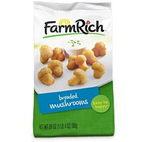 Remember the first time you tasted delicious fried mushrooms? :) Ours will make you relive that taste all over again. We use whole white button mushrooms, delicious breading and season them to perfection. You can bake or fry 'em -- and there are 0 trans fats!