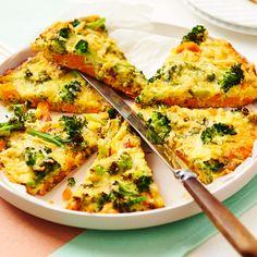 Frittata met zoete aardappel en broccoli Pureed Food Recipes, Veggie Recipes, Vegetarian Recipes, Dinner Recipes, Healthy Recipes, Frittata, Food Porn, Healthy Diners, Kids Meals