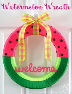 Share Tweet Pin Mail Kick off summer by making this simple but vibrant watermelon wreath! I am super excited to be a new member ...