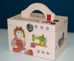 Caixa de Costura Infantil (Découpage)