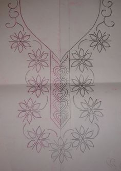 chikan or shadow work Embroidery Neck Designs, Hand Embroidery Flowers, Simple Embroidery, Hand Embroidery Stitches, Ribbon Embroidery, Bordado Floral, Mexican Embroidery, Neckline, Google Search