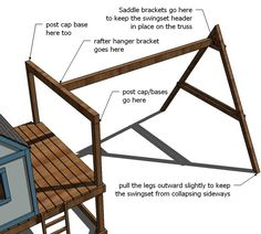 Get your kids playing outdoor by building a backyard swing set. Here's a collection of 34 free DIY swing set plans for you to get some ideas. Build A Swing Set, Swing Set Plans, Backyard Swing Sets, Diy Swing, Bed Plans, Kids Playhouse Plans, Backyard Playhouse, Build A Playhouse, Backyard Playground