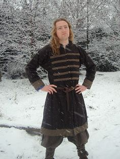 Medieval russian coat made of wool and linen