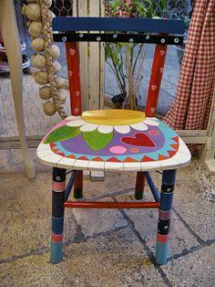 Children hand painted chair