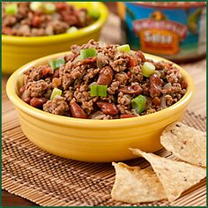 Recipe for Simple Salsa Chili from Margaritaville Foods. Soup Recipes, Cooking Recipes, Game Day Food, Ground Beef Recipes, Restaurant Recipes, Lunches And Dinners, Soup And Salad, Entrees, Food To Make