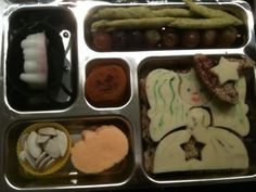 witch bento with vampire teeth