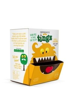 B Studio has created designs for Tingz, a new Peppersmith sweet brand, which claims to be 'actively good for teeth'.  Tingz point of sale box