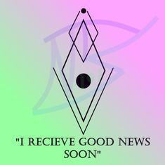"""""""I Receive Good News Soon"""" Write this sigil on paper, kiss it, and then burn it outside on a Sunday Sigil Magic, Magic Symbols, Viking Symbols, Magic Spells, Sage Smudging, Spiritual Manifestation, Circle Tattoos, Switch Words, Herbal Magic"""