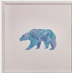 Polar bear print    big boy room