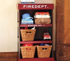 Wouldn't this be so cute in a little boy's room whose dad is a firefighter? :) (no, we're not pregnant, I'm just dreaming) firefighter stuff, love my firefighter, firefighter decor ideas Fireman Nursery, Fireman Room, Firefighter Bedroom, Firefighter Baby, Firefighter Decor, Fire Truck Bedroom, Fire Truck Nursery, Toddler Rooms, Baby Boy Rooms