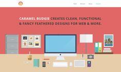 illustration flat screenshot web design Caramel Budgie