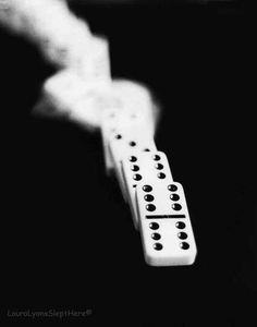 black and white photography, fIne art photography print, dominoes, Still Life Photography, Motion Photography on Etsy, 22,28€