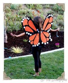 The Wine{a}be: How to make Monarch Butterfly Wings. Gigi's Halloween costume