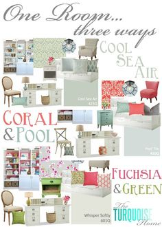 One Room � Three Ways {Guest Bedroom and Office Inspiration Boards}