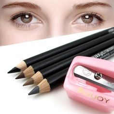 4pcs Pro Beauty Eyebrow Pencil with Brush  Comb Women Makeup Cosmetic Tool &1 pcs Pencil sharpener