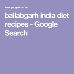 ballabgarh india diet recipes - Google Search
