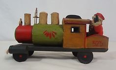 SANTA IN TRAIN DEPT 56 TOYS IN ATTIC OLD FASHIONED STYLE CHRISTMAS HOLIDAY DECOR.  Purchased 2013.