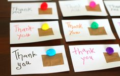 Write thank you letters (and work on handwriting, too!)