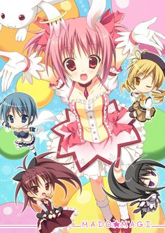 The Kyuubey's Angels, contracted 'till they turn into witches. Puella Magi Madoka Magica is so twisted.