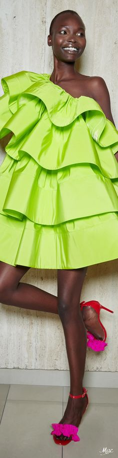 Spring 2021 RTW Greta Constantine High Fashion, 21st, Lime, Designers, Collections, Spring, Dresses, Style, Vestidos