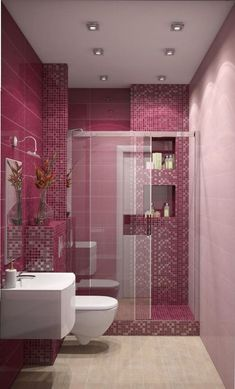 Home Decoration Pink Modern Bathroom Interior has never been so Perfect! Since the beginning of the year many girls were looking for our Magical guide and it is finally got released. Now It Is Time To Take Action! See how. Modern Bathrooms Interior, Pink Home Decor, Bathroom Interior Design, Home Decor Trends, House Interior, Pink Bedroom Decor, Home Interior Design, Modern Decor, Bathroom Decor